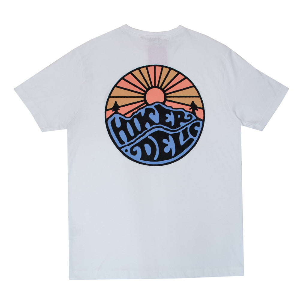 Hikerdelic Original Logo T-Shirt White / Tangerine - Hikerdelic Shop