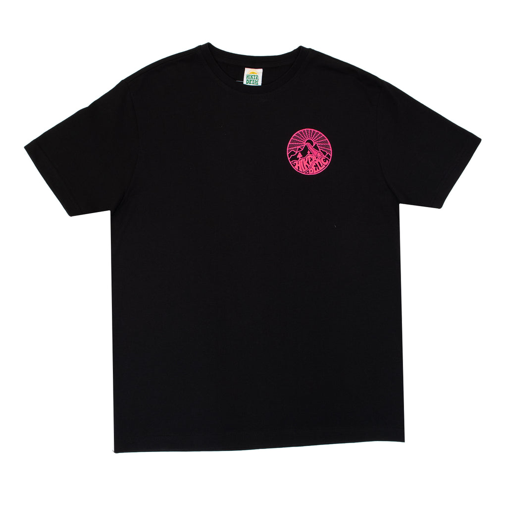 Hikerdelic Core Logo T-Shirt Black / Neon Pink - Hikerdelic Shop