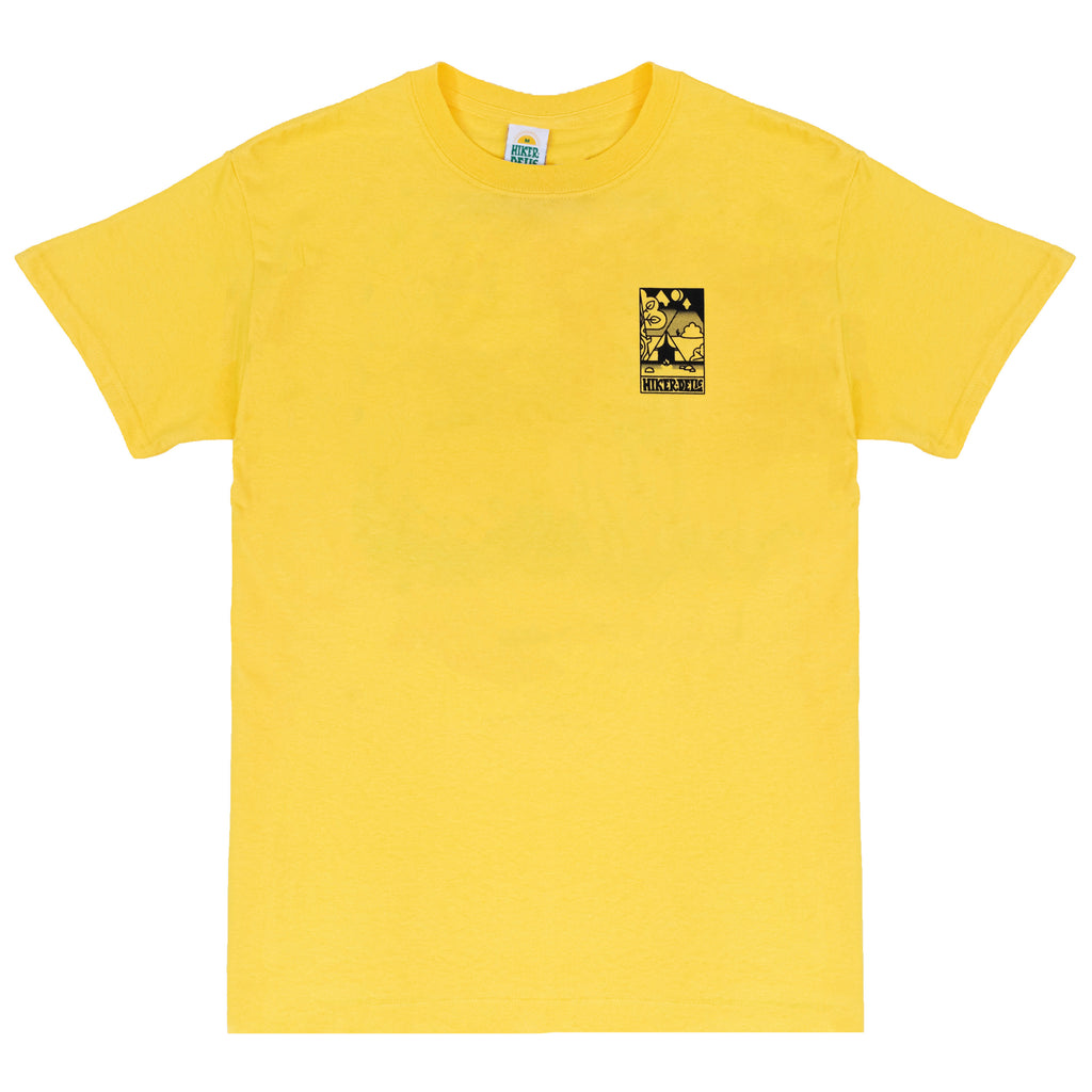 Hikerdelic Camp Scene T-Shirt Yellow
