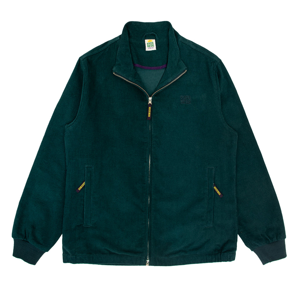 Hikerdelic Bradshaw Corduroy Track Top Jacket - Bottle Green