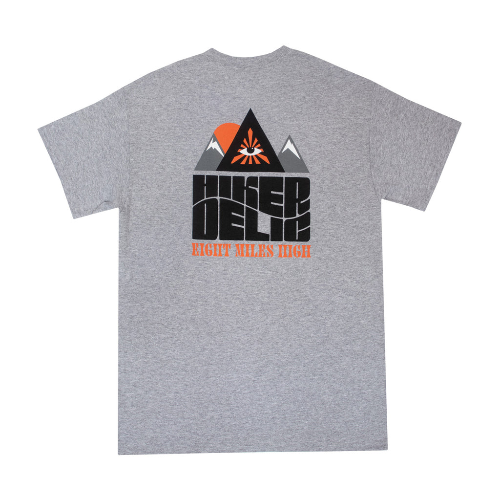 Hikerdelic Eight Miles High T-Shirt Grey Marl