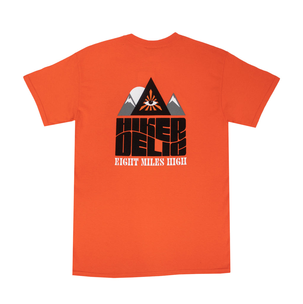 Hikerdelic Eight Miles High T-Shirt - Orange