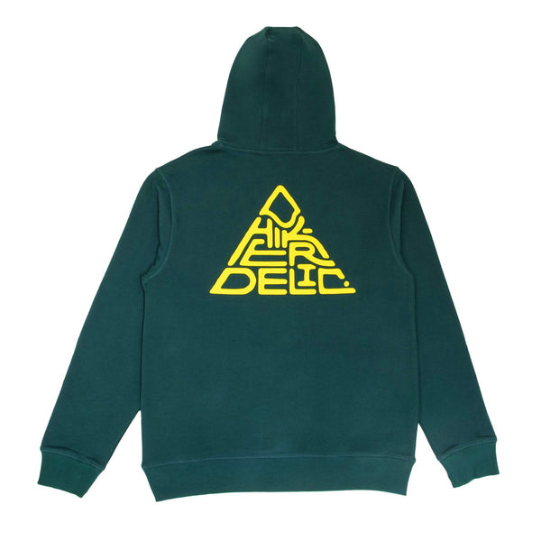 Hikerdelic Mountain Logo Hooded Sweatshirt - Bottle Green