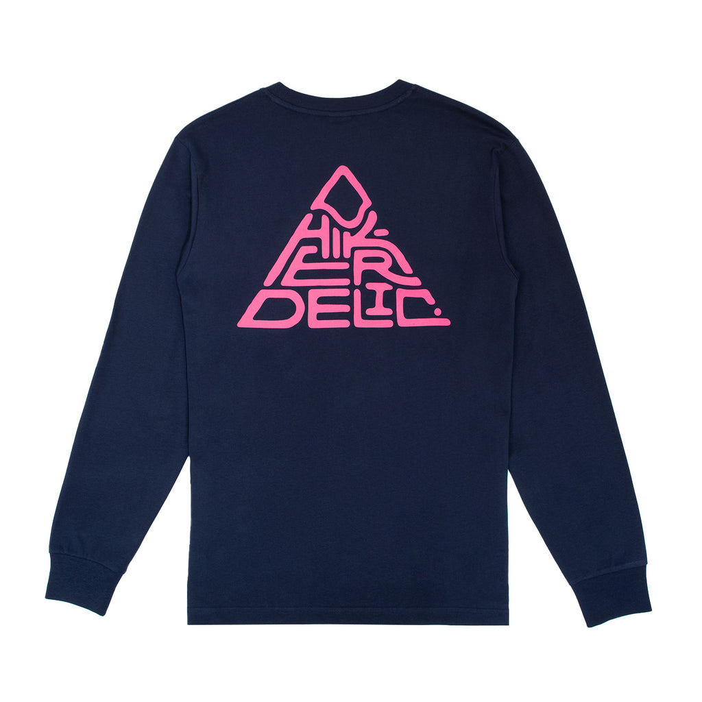 Hikerdelic Mountain Logo Long Sleeve T-Shirt - Navy