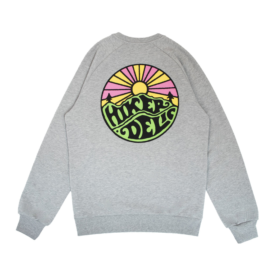 Hikerdelic Original Logo Sweatshirt Grey Marl