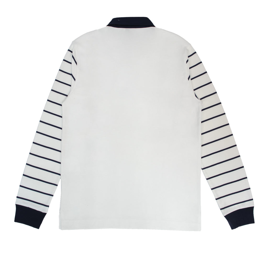 Hikerdelic Sykes Rugby Shirt White / Navy Stripe