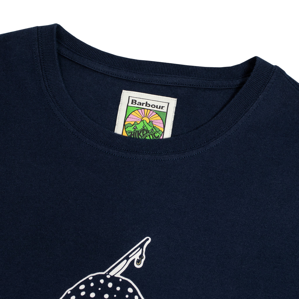 Barbour x Hikerdelic Derek T-Shirt Navy - Hikerdelic Shop