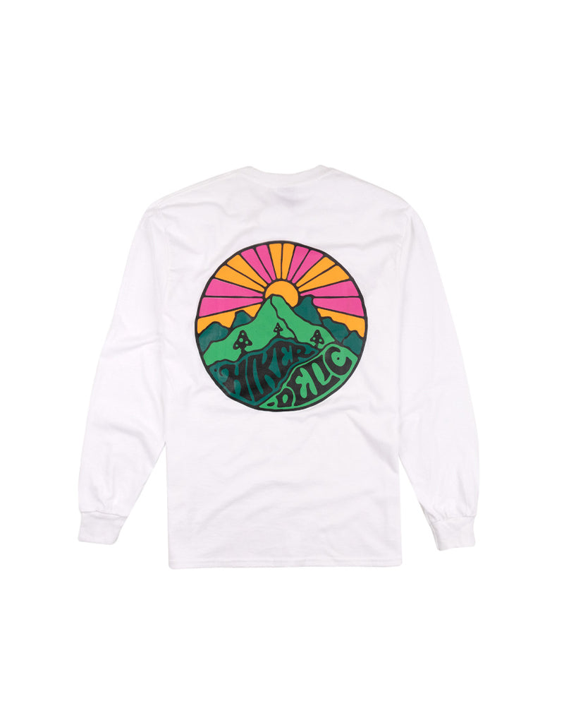 Hikerdelic Japan Original Logo Long Sleeve T-Shirt White