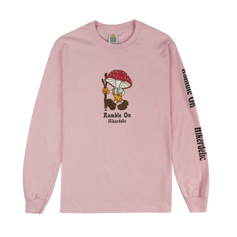 Hikerdelic Derek Long Sleeve T-Shirt Pink