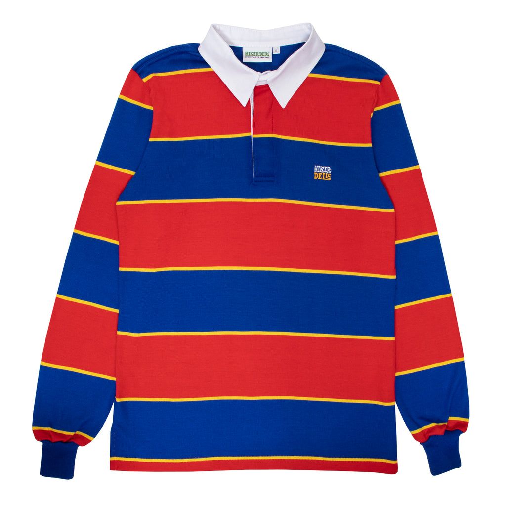 Hikerdelic Striped Rugby Shirt Red / Blue / Yellow