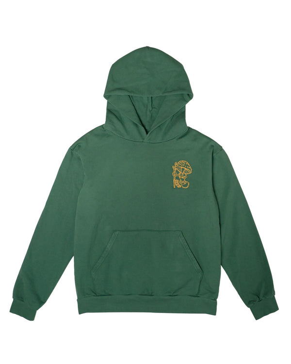 Hikerdelic USA Eric & Derek Hooded Sweatshirt Green