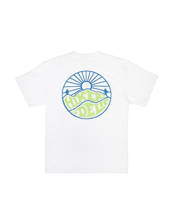 Hikerdelic USA Sunrise T-Shirt White