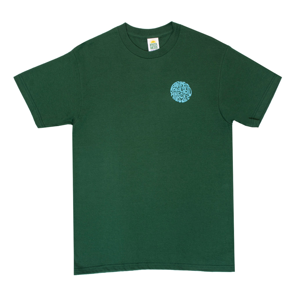 Hikerdelic Tripping the Void T-Shirt - Dark Green - Hikerdelic Shop