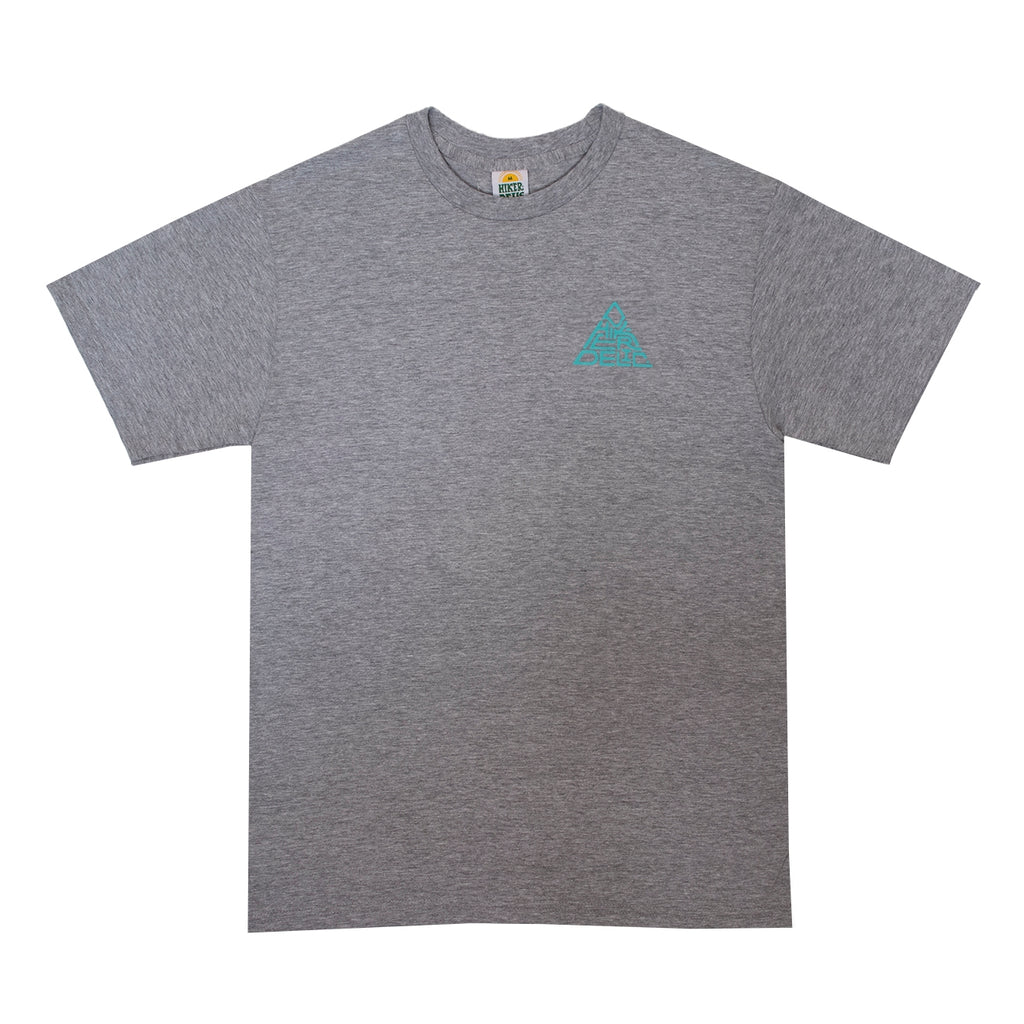 Hikerdelic 60° Mountain Logo T-Shirt - Grey Marl - Hikerdelic Shop