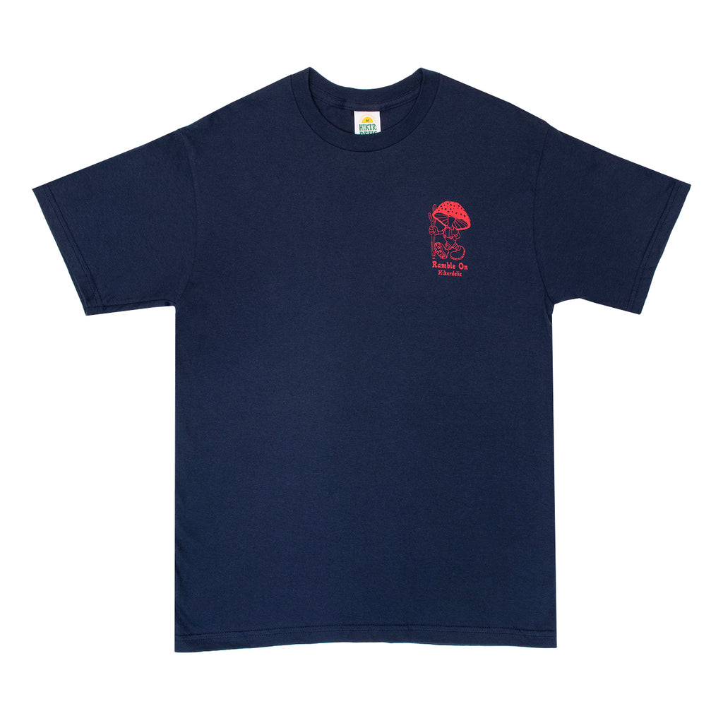 Hikerdelic Ramble On T-Shirt - Navy - Hikerdelic Shop