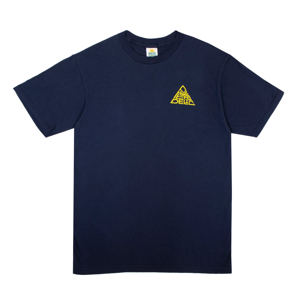 Hikerdelic 60° Mountain Logo T-Shirt - Navy/Yellow - Hikerdelic Shop