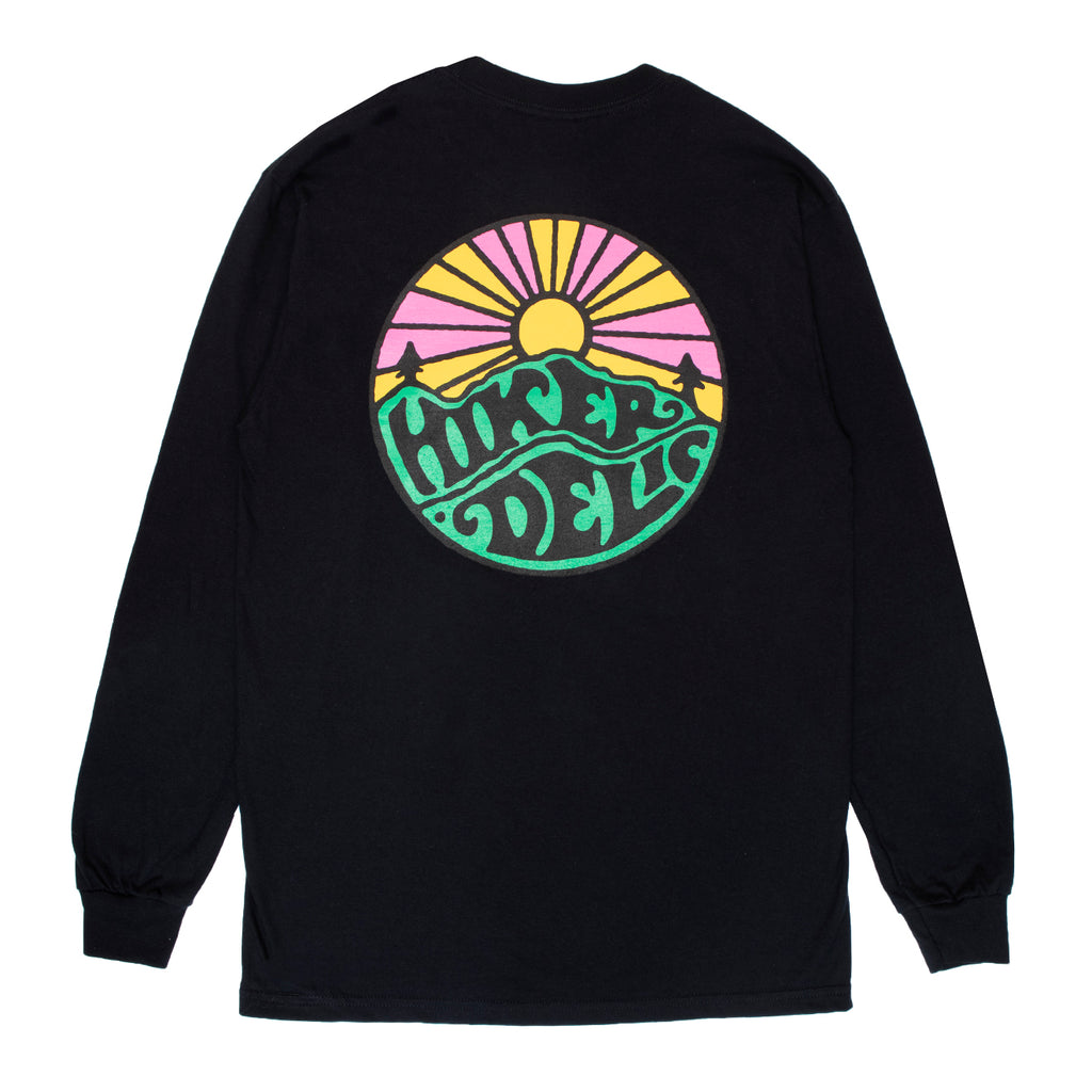 Hikerdelic Original Logo Long Sleeve T-Shirt - Black - Hikerdelic Shop