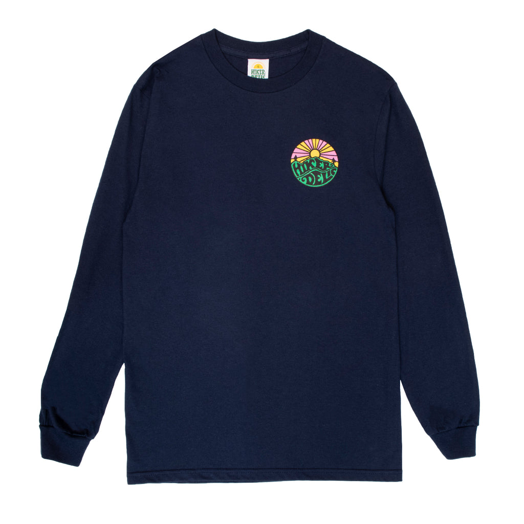 Hikerdelic Original Logo Long Sleeve T-Shirt - Navy - Hikerdelic Shop