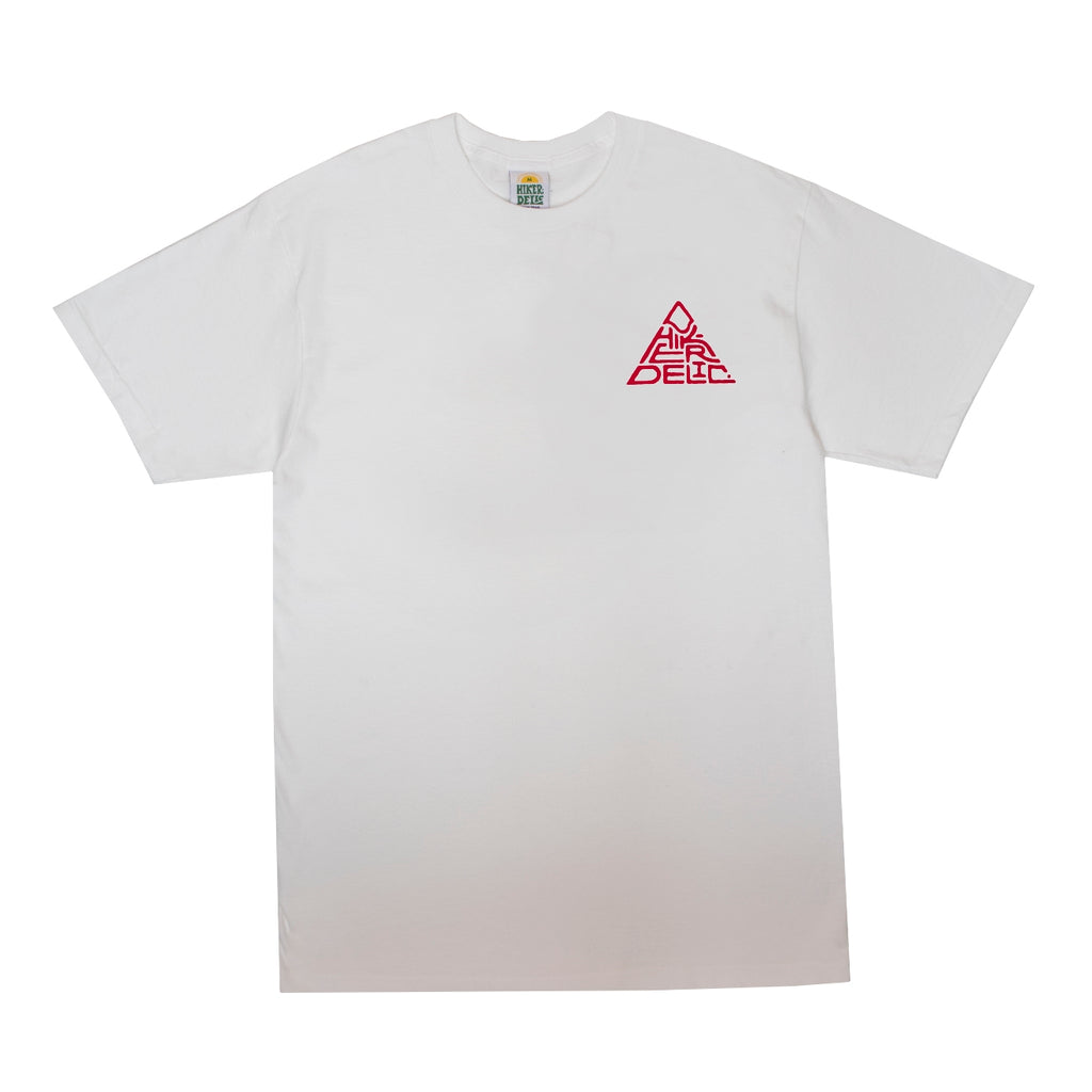 Hikerdelic 60° Mountain Logo T-Shirt - White - Hikerdelic Shop