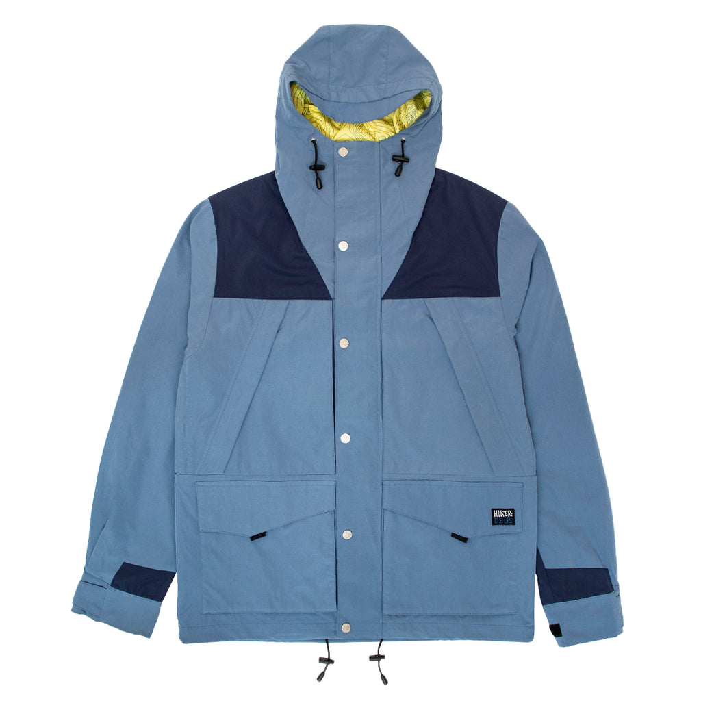 Hikerdelic Moscrop Parka Jacket - Blue/Dark Blue - Hikerdelic Shop