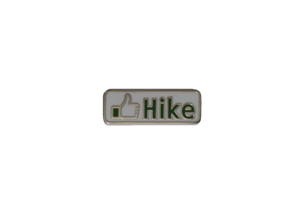 Hikerdelic Hike Button Pin Badge Ivory / Green - Hikerdelic Shop