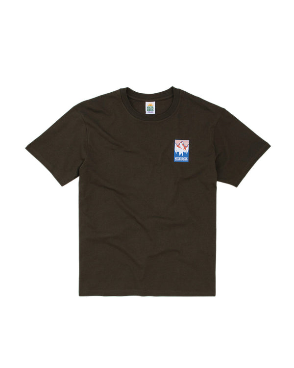 Hikerdelic Patch Logo T-Shirt Military Green