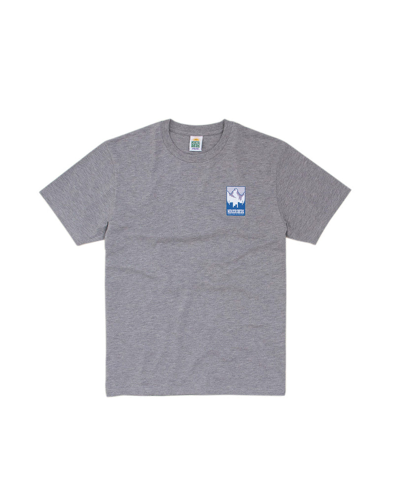 Hikerdelic Patch Logo T-Shirt Grey Marl