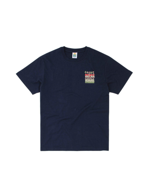 Hikerdelic Treks and Drugs Mountain T-Shirt Navy
