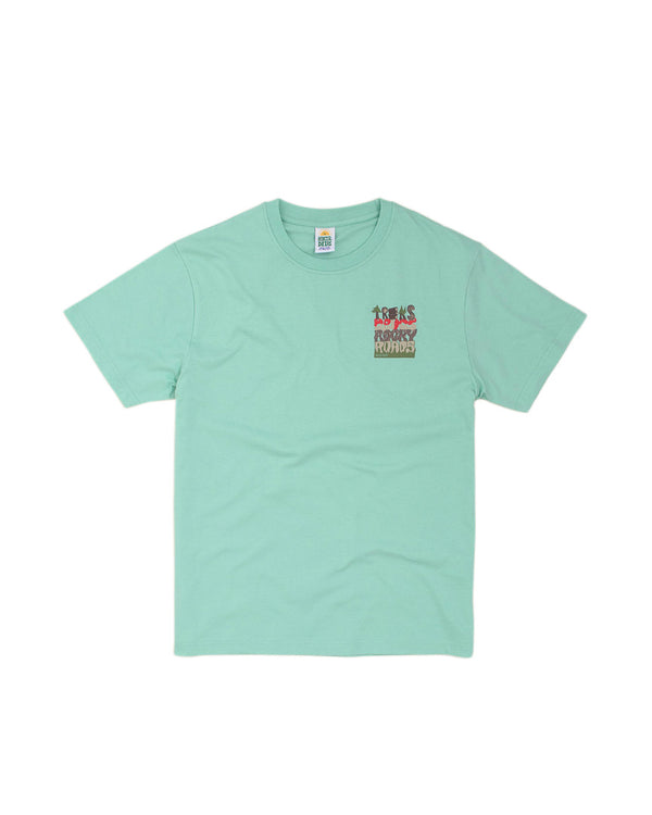 Hikerdelic Treks and Drugs Mountain T-Shirt Mint