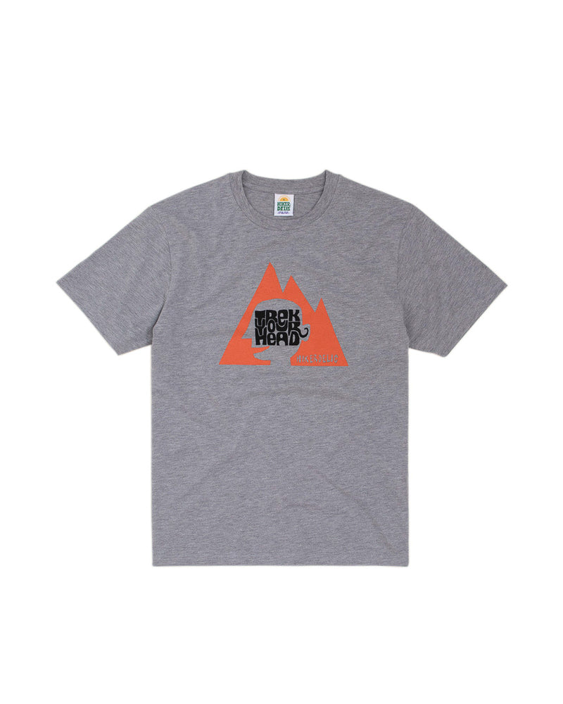 Hikerdelic Trek Your Head T-Shirt Grey Marl