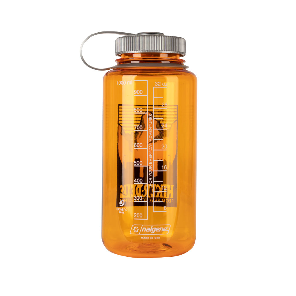Hikerdelic x Nalgene 32oz Wide Mouth Bottle Clementine