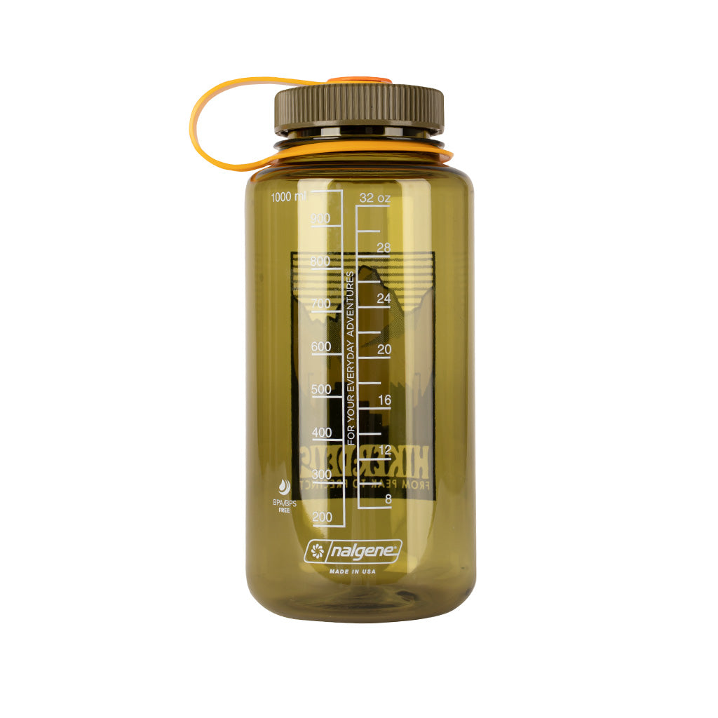 Hikerdelic x Nalgene 32oz Wide Mouth Bottle Olive