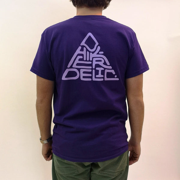 Hikerdelic 60 degrees Mountain T-Shirt - Purple / Lilac - Hikerdelic Shop