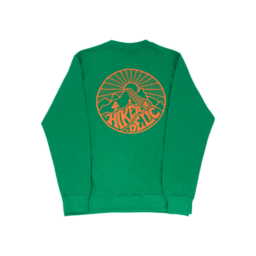Hikerdelic Core Logo Sweatshirt - Green / Orange - Hikerdelic Shop