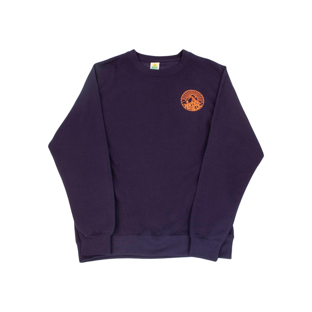 Hikerdelic Core Logo Sweatshirt - Navy / Orange - Hikerdelic Shop
