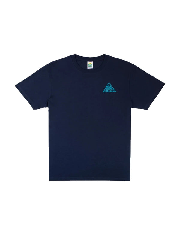 Hikerdelic Mountain Logo Short Sleeve T-Shirt - Navy