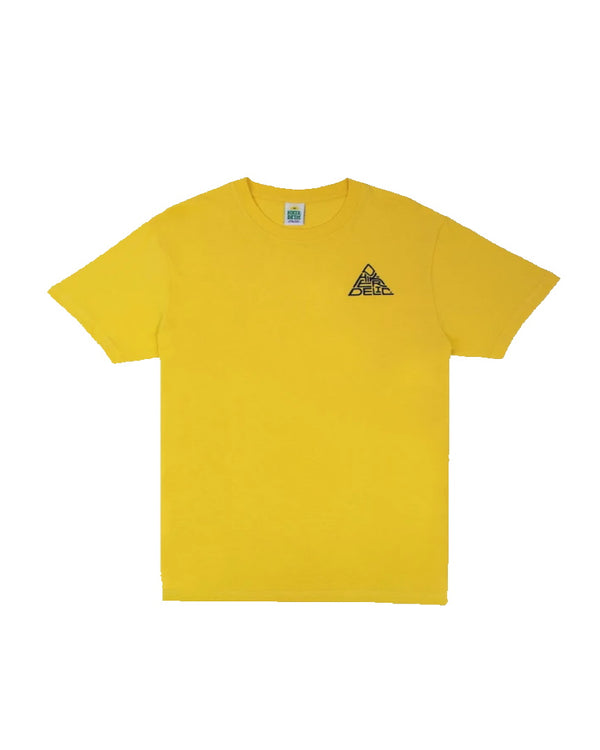 Hikerdelic Mountain Logo Short Sleeve T-Shirt - Sunshine Yellow