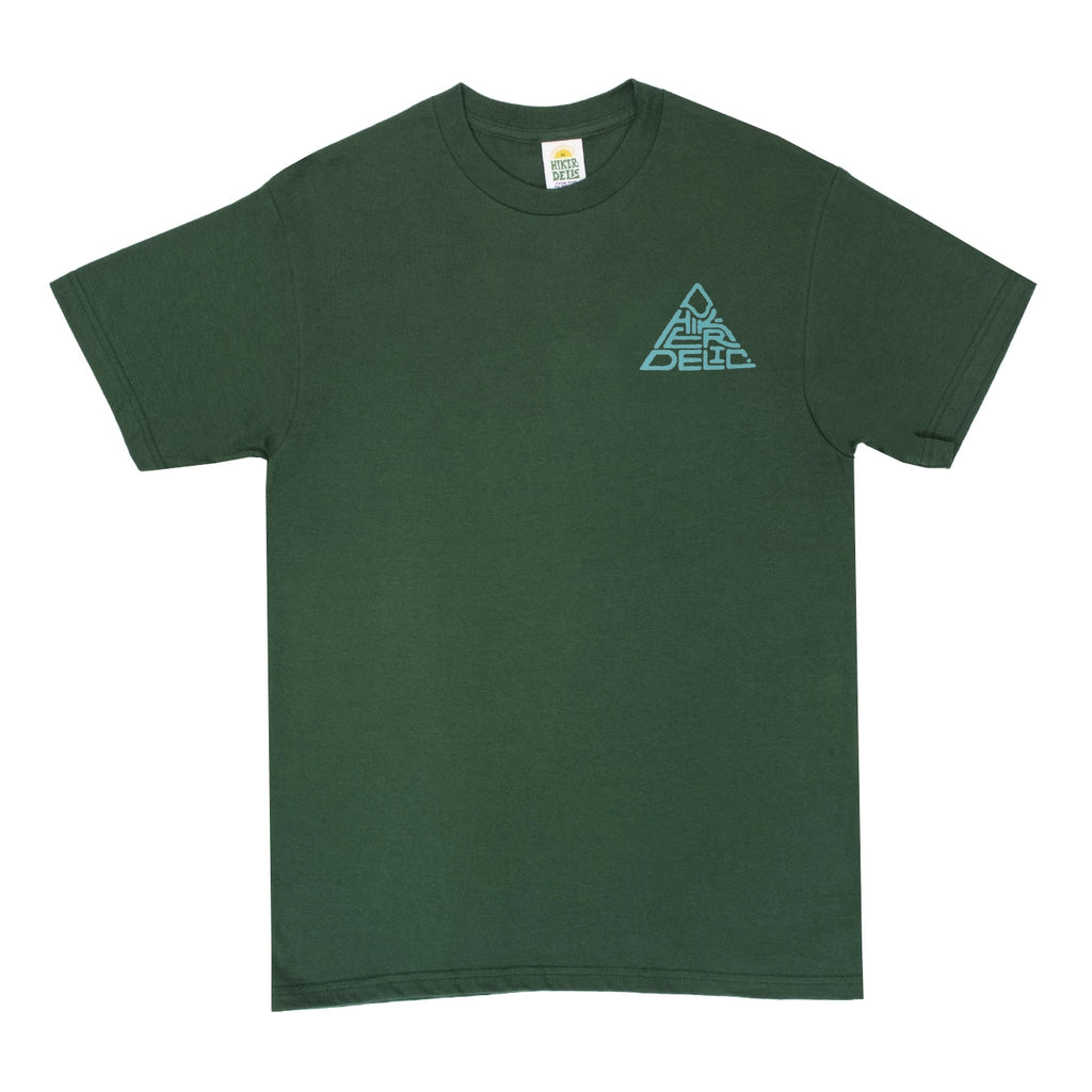 Hikerdelic 60° Mountain Logo T-Shirt - Dark Green - Hikerdelic Shop