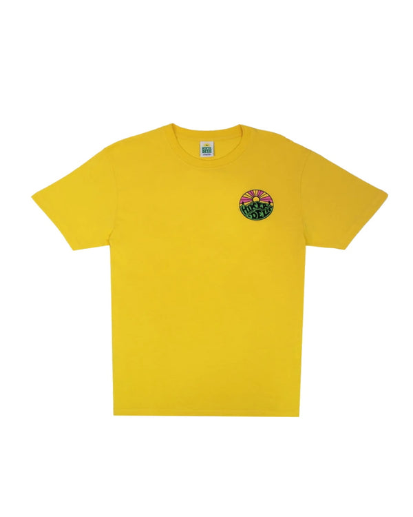 Hikerdelic Original Logo Short Sleeve T-Shirt - Sunshine Yellow