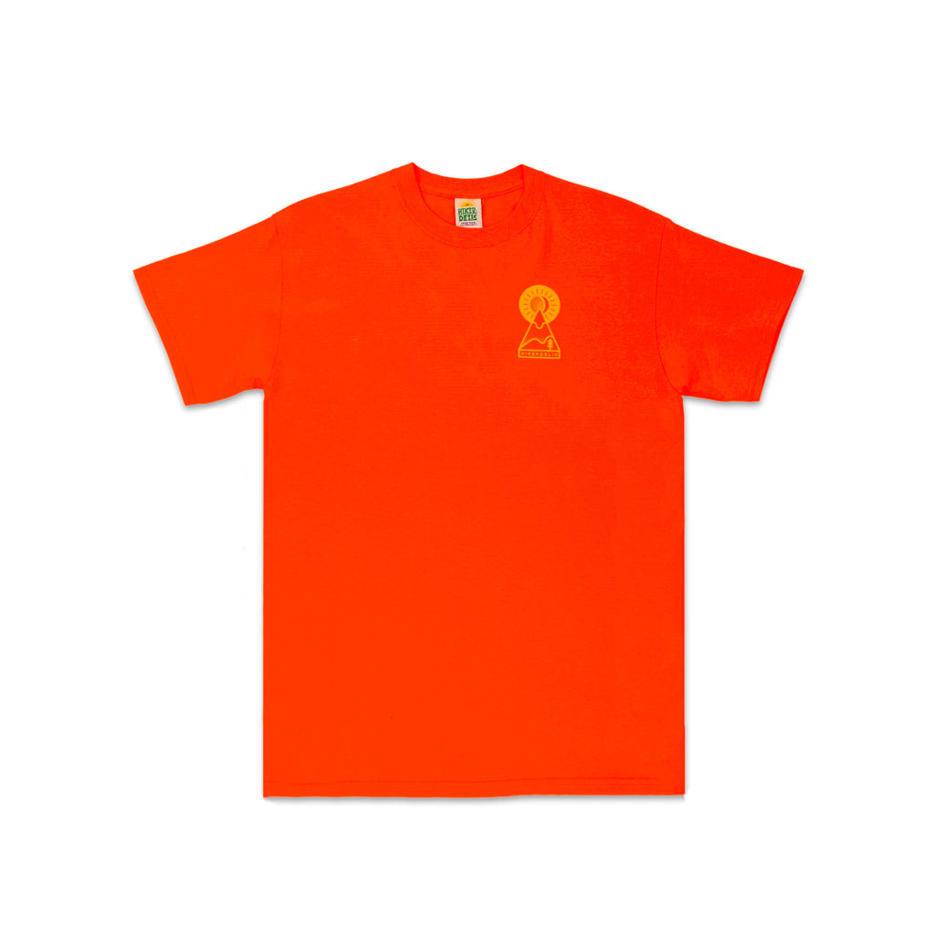 Hikerdelic Keyhole T-Shirt - Orange / Yellow - Hikerdelic Shop