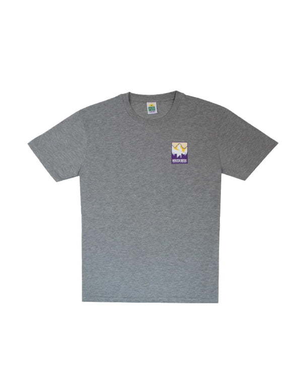 Hikerdelic Patch Print Logo Short Sleeve T-Shirt - Grey Marl
