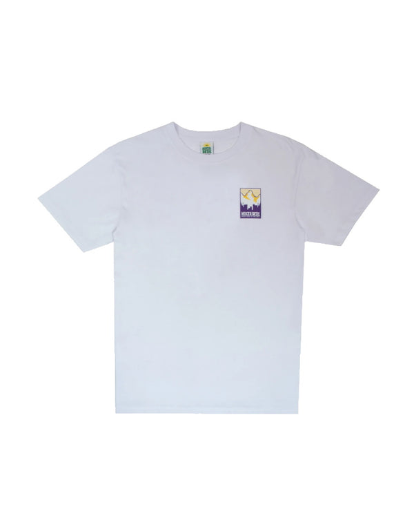 Hikerdelic Patch Print Logo Short Sleeve T-Shirt - White