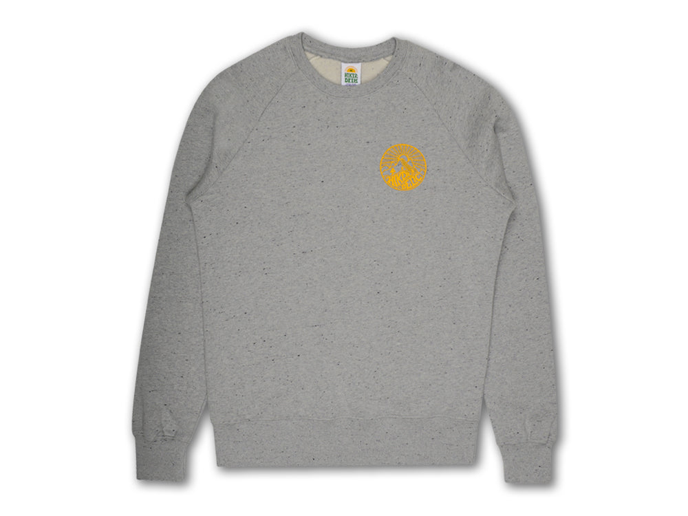 Hikerdelic Core Logo Sweatshirt - Grey Marl - Hikerdelic Shop