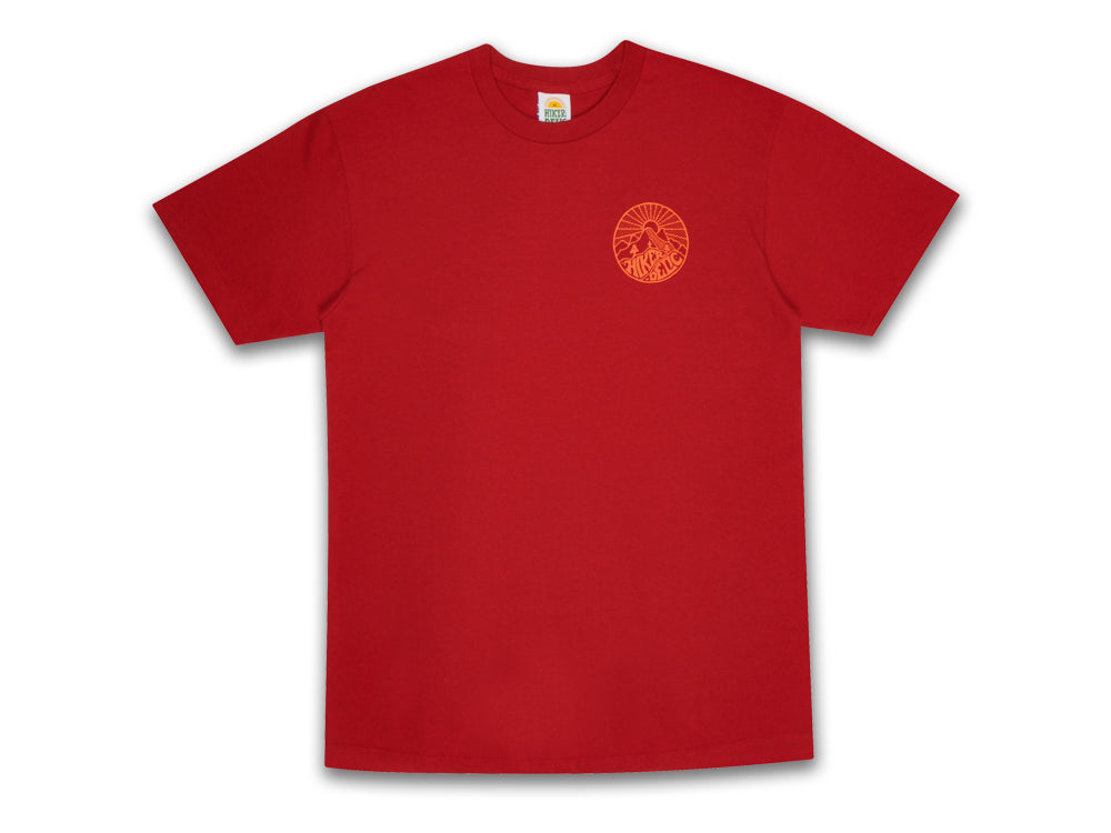 Hikerdelic Core Logo T-Shirt - Red - Hikerdelic Shop
