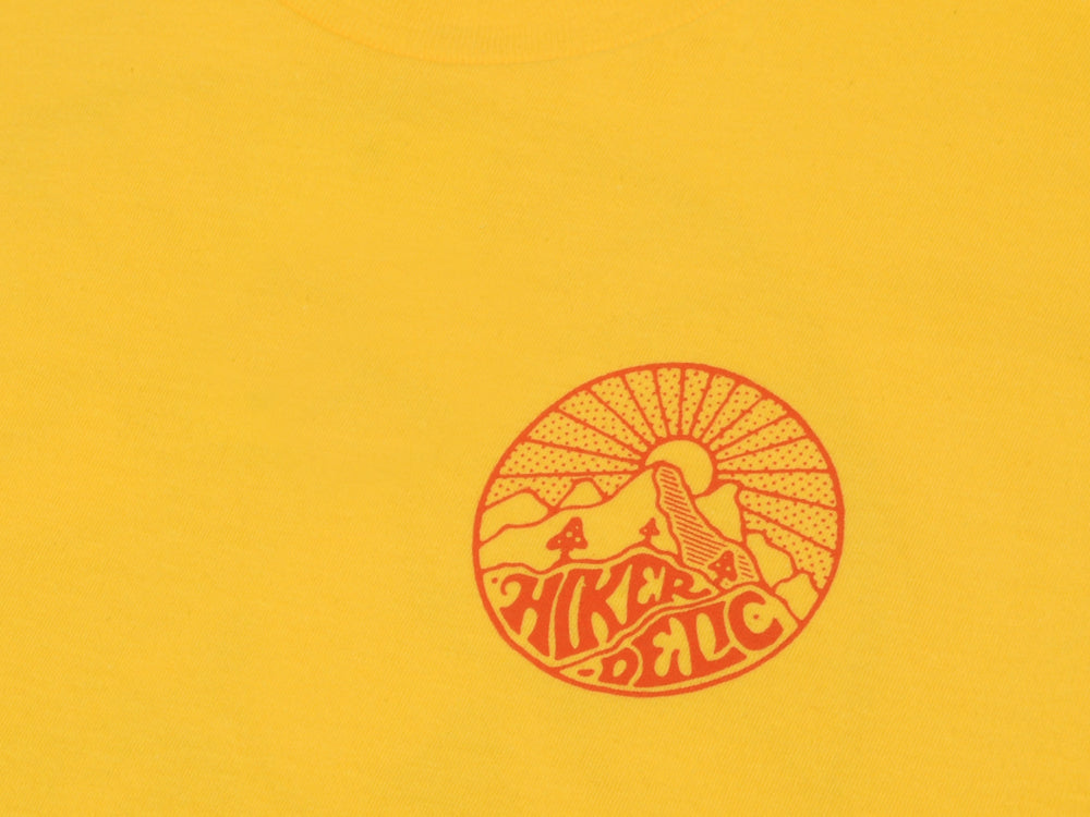 Hikerdelic Core Logo T-Shirt - Yellow - Hikerdelic Shop