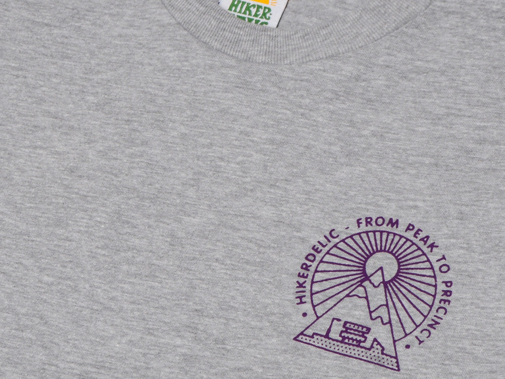 Hikerdelic From Peak To Precinct T-Shirt - Grey Marl - Hikerdelic Shop