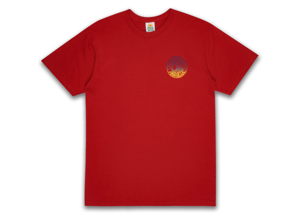 Hikerdelic Core Blend T-Shirt - Red - Hikerdelic Shop