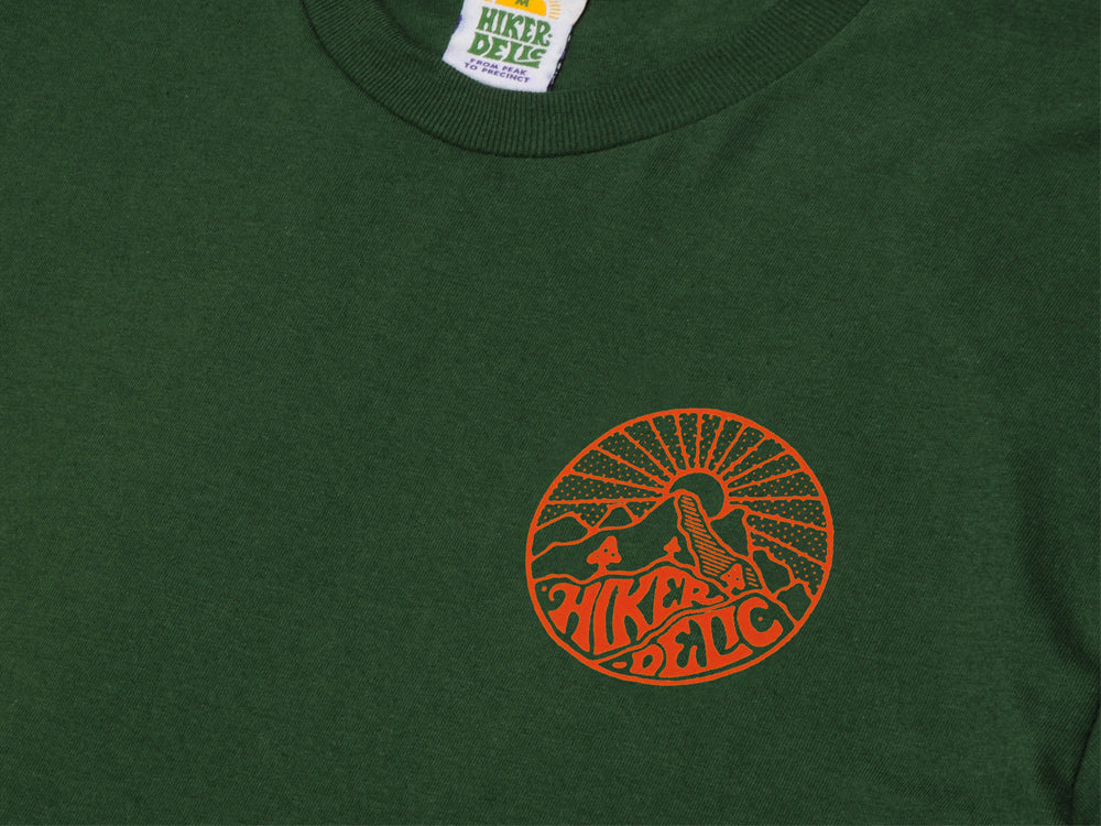 Hikerdelic Core Logo T-Shirt - Green - Hikerdelic Shop