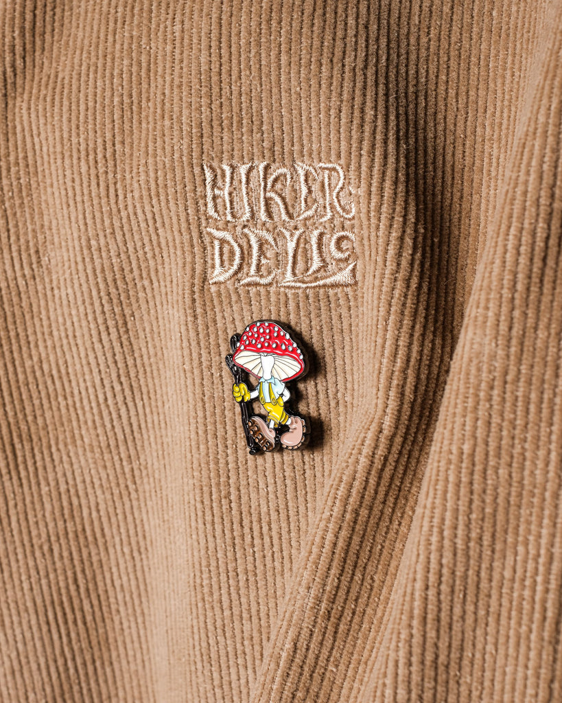 Hikerdelic Derek Pin Badge