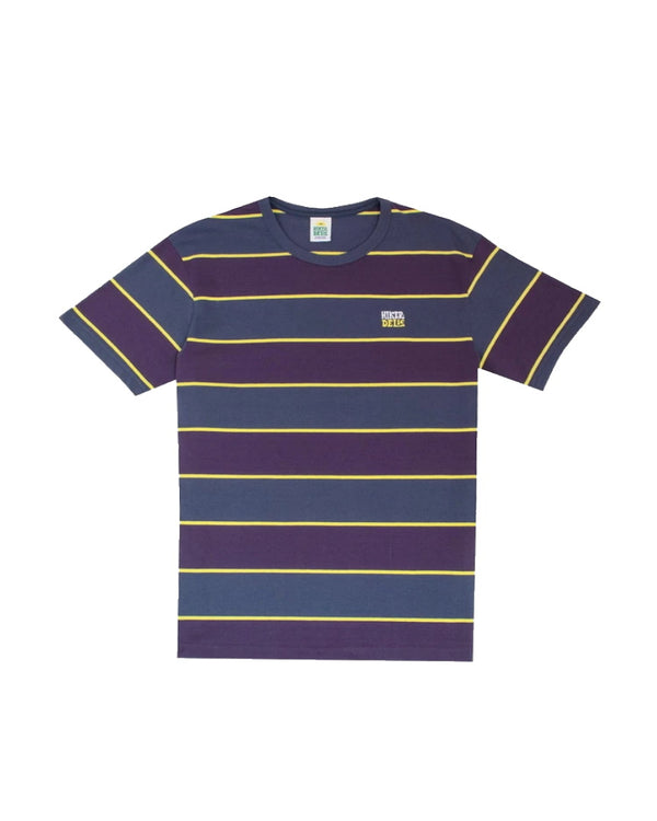 Hikerdelic Wide Stripe Short Sleeve T-Shirt - Navy / Purple